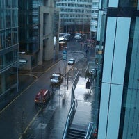 Photo taken at Spinningfields Square by Anthony B. on 2/13/2012