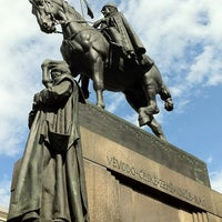 Photo taken at Saint Wenceslas statue by Luis María L. on 7/14/2012