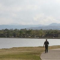 Photo taken at Sloan's Lake Park by Stephen Steel D. on 4/29/2012