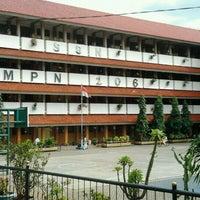 Photo taken at SMP N 106 by Mahmudah H. on 2/9/2012