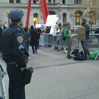 Photo taken at #OCCUPYWALLSTREET by Diana L. on 11/27/2011