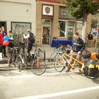 Photo taken at York Blvd. and Ave. 50 Bike Corral by LADOT Bike Program on 3/29/2012