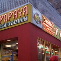 Photo taken at Papaya King by Roland L. on 12/30/2011