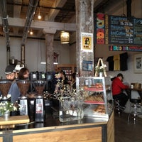 Photo taken at Brooklyn Roasting Company by Erik M. on 4/6/2012
