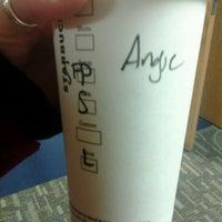Photo taken at Starbucks by Angie R. on 1/20/2012