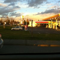 Photo taken at Shell by Justin K. on 2/23/2012