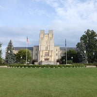 Photo taken at Burruss Hall by Apryl T. on 8/5/2012