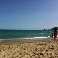Photo taken at Spiaggia delle Fornaci by Amanda A. on 7/16/2012