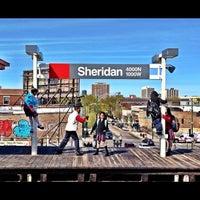 Photo taken at CTA - Sheridan by Brandon T. on 4/4/2012