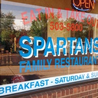 Photo taken at Spartans Family Restaurant by Kim M. on 6/10/2012