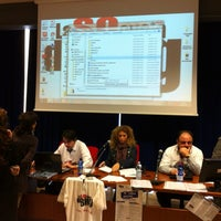 Photo taken at Centro Congressi Parma by Francesco D. on 4/22/2012