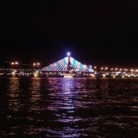 Photo taken at Han River Bridge by Adrian A. on 1/25/2012