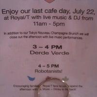 Photo taken at Royal T Cafe by Jenny on 7/22/2012