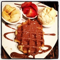Photo taken at Max Brenner Chocolate Bar by Johnny K. on 7/11/2012
