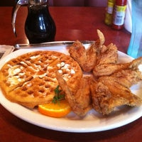 Photo taken at Gladys Knight's Signature Chicken & Waffles by John F. on 3/23/2012