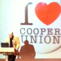 Photo taken at Cooper Union Great Hall by Jason P. on 12/6/2011