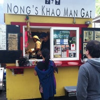 Photo taken at Nong's Khao Man Gai by John J. on 8/31/2011