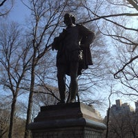 Photo taken at William Shakespeare Statue by Tim G. on 3/17/2012