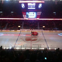 Photo taken at Scotiabank Saddledome by Michelle H. on 9/30/2011
