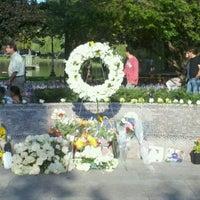 Photo taken at Massachhusetts 9/11/2001 Memorial by Sarah K. on 9/11/2011