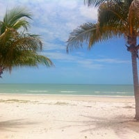 Photo taken at Fort Myers Beach by Bryan N. on 6/27/2011