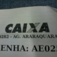 Photo taken at Caixa Econômica Federal by Tchelo P. on 8/14/2012