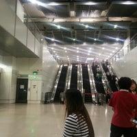Photo taken at Serangoon MRT Interchange (NE12/CC13) by Yinglei Z. on 9/10/2012