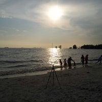 Photo taken at Pantai Kelanang by Justin S. on 3/25/2012