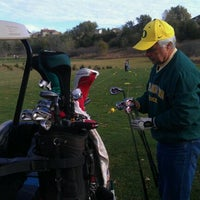 Photo taken at Brandon Golf Course by Jacey H. on 10/15/2011