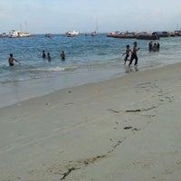 Photo taken at Baharia Hindi Beach by Sérgio S. on 12/9/2011