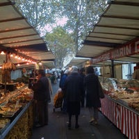 Photo taken at Marché de Raspail by Haesung H. on 10/28/2011