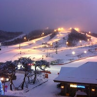 Photo taken at Alpensia Resort Ski Area by HJ D. on 1/21/2012