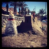 Photo taken at Las Vistas Beach by Anna on 8/31/2012
