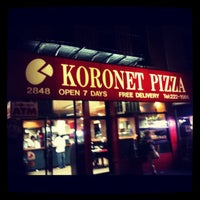 Photo taken at Koronet Pizza by Richard N. on 11/16/2011