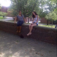 Photo taken at Clark University - Hughes Hall by Dawson I. on 9/21/2011