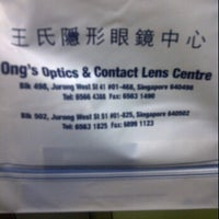 Photo taken at Ong's Optics and Contact lens Centre by Andrew 西. on 9/8/2011
