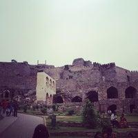 Photo taken at Golconda Fort by Varun P. on 8/18/2012