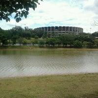 Photo taken at Estádio Jornalista Felipe Drummond (Mineirinho) by Juliana R. on 12/26/2011