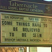 Photo taken at Tabernacle Full Gospel Baptist Church by Bridget H. on 12/3/2011