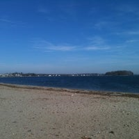 Photo taken at Calf Pasture Beach by Etana H. on 11/25/2011