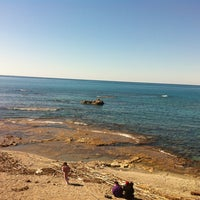 Photo taken at Spiaggia allo Scoglio by Ambrogio A. on 12/6/2011