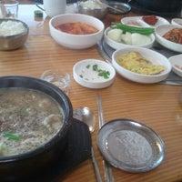 Photo taken at 신림동 명물철판 순대볶음 by Sun Cheol L. on 3/15/2012
