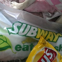 Photo taken at SUBWAY by Brandy on 8/6/2012