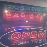Photo taken at Rosedale BBQ by Tad U. on 6/19/2012