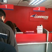 Photo taken at Correos Chile Providencia by Dan Cooper on 8/17/2012