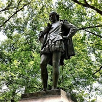 Photo taken at William Shakespeare Statue by The Corcoran Group on 7/5/2012