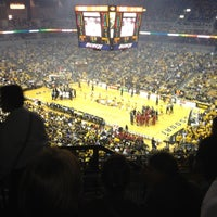 Photo taken at Mizzou Arena by Jane R. on 3/1/2012