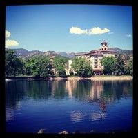 Photo taken at The Broadmoor by Lauren on 5/14/2012