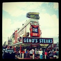 Photo taken at Geno's Steaks by Lauren C. on 7/29/2012