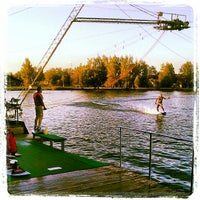 Photo taken at Ozolnieku Wakeboard by Sandra F. on 7/25/2012